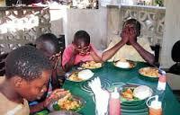 index Bidden voor het eten